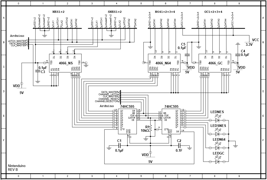 Schematics Nintenduino Project Homepage